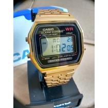 Reloj Casio Dorado A158 Retro Gold Vintage Clasico