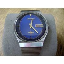 Reloj Citizen Vintage Automático... Bonita Carátula Azul.