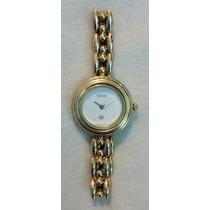 Gucci Fino Reloj De Acero Y Oro, Caratula Blanca.