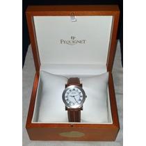Emile Pequignet Fino Reloj Francés Aluminio Y Piel, Blanco.