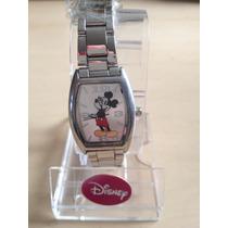 Reloj De Mickey Mouse Dama O Niño Acero 35 X 27 Mm