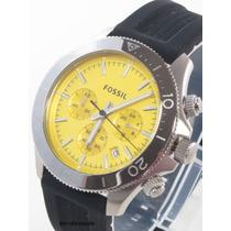Reloj Fossil Ch2852 Retro Traveler Crono Silicon
