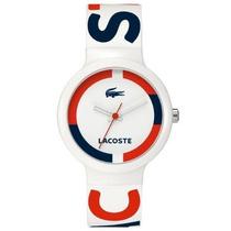 Reloj De Pulsera Unisex Blanco Rojo Lacoste 2020030 Pm0