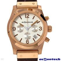 Reloj Acquatech Italiano Hombre, Acero Piel Y Cronografo Sp0