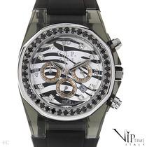 Reloj Vip Time Italy, Crono, Acero Y Policarbonato 3 Sp0