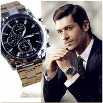 Reloj Metalico Barato Reloj Elegante Para Caballero Hermoso
