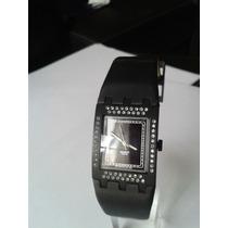 Reloj Swatch Para Dama Cuadrado Con Adornos De Piedras