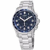 Reloj Victorinox Chrono Classic Acero Inoxidable Azul 241652
