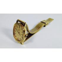 Reloj Omega De Ville Caja Y Pulso Chapa De Oro