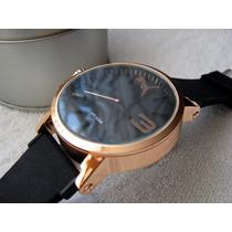 Precioso Reloj Puma Oro Rosa Caucho Grande Subasta 1 Peso