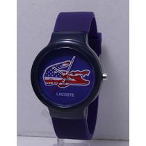 Reloj Unisex Lacoste Barato Excelente Azul Regalo