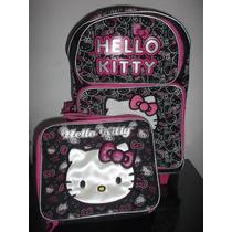 Kitty Mochila Llantitas Lonchera Envio $1200.00 Mn4