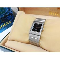 Rolex King Midas Oro Bco 18k Diamantes Vintage Coleccionista