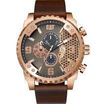 Cat Watches Grid 52mm Piel Acero Grande Sc19935129 Diego:vez