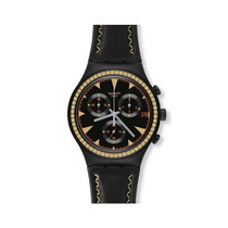 Reloj Swatch Hombre Aluminio Irony Black Species Ycb4024 New