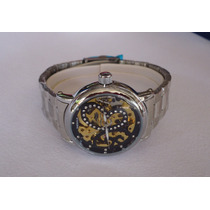 Elegantisimo Reloj Skeleton Automatico Importado Para Dama