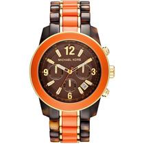 Reloj Michael Kors Preston Dorado Acero Naranja Mk5765