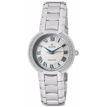 Reloj Bulova Fairlawn Diamantes Acero Inoxidable 96r167