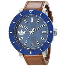 Adidas Reloj Azul Marino De Piel 100% Original