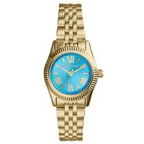 Reloj Michael Kors Mini Lexington Mk3271 Dorado Garantia