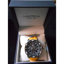 Reloj Caballero Nautica Original N17604g Resistente Al Agua