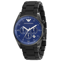 Reloj Emporio Armani Sport Acero Negro Azul Ar5921 Garantia