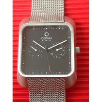 Reloj Obaku Denmark Acero Inoxidable, Diseño Firmado, Nuevo