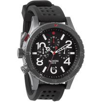 Reloj Nixon 48 20 Acero Caucho Crono A278-1426 Garantia