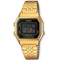 Reloj Casio Dama La680 Dorado Extensible Metal Crono Tempori