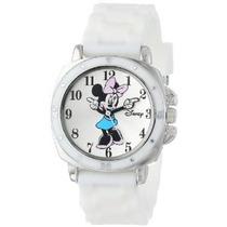 Mn1106 Minnie Mouse Reloj De Disney Para Niños Con White Rub