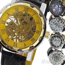 Reloj Automatico Mecanico Tipo Skeleton Este No Usa Pila