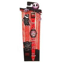 Jack & Sally Reloj Rojo De Pulso Analogico