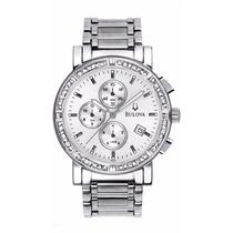 Reloj Bulova Acero Inoxidable Diamantes 96e03 Envio Gratis