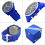 Reloj Adidas Fossil Analogo Logo Retro Azul Cronografo Analo
