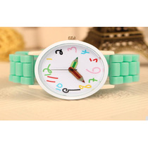 Reloj De Silicón Aqua Para Niña