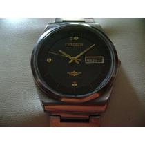 Impecable Reloj Citizen Vintage Automático. Dial Azul Marino
