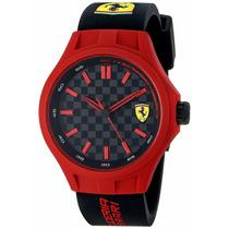 Reloj Ferrari 0830194 Pit Crew, Rojo/negro Silicón