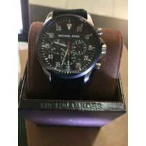 Reloj Michael Kors 100% Original En Caucho Tipo Aviador