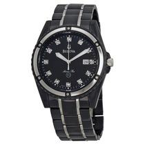 Reloj Bulova Marine Star Black Mother Of Pearl Negro 98d107