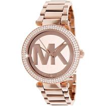 Reloj Dama Michael Kors Parker Acero Color Oro Rosado Mk5865