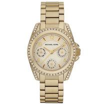 Reloj Michael Kors Blair Acero Color Oro Mk5639 Garantia