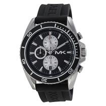 Reloj Michael Kors Jet Master Acero, Caucho Negro Mk8355