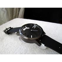 Precioso Reloj Puma 50.mm Grande Caucho Negro Subasta 1 Peso