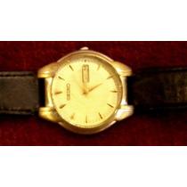 Fino Reloj Seiko Cuarzo Vintage Muy Elegante