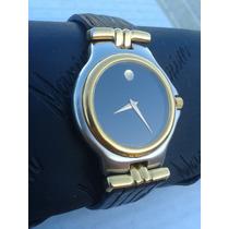 Reloj Original Movado Acero Oro No Mido Rado Longines
