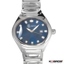 Elegante Reloj K & Bros Para Hombre En Acero Inoxidable1 Sp0