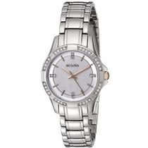 Reloj Bulova Diamond Gallery Acero Mujer Plateado 98l180