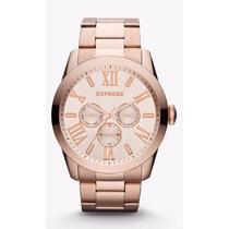 Reloj Express Rose Gold 4521401 Dama Mujer Cuarzo Japones