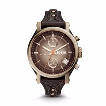 Original Boyfriend Chronograph Dark Brown Leather Watch-