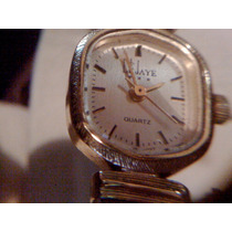Reloj Le Jaye Cuarzo Vintage Dorado